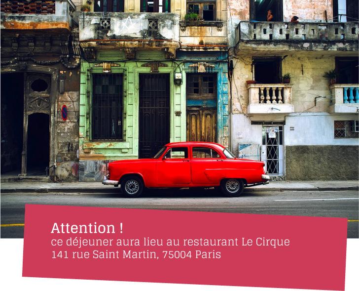 Le 8 mars d jeuner de la cotal office de tourisme de cuba cotal france - Office du tourisme de cuba ...