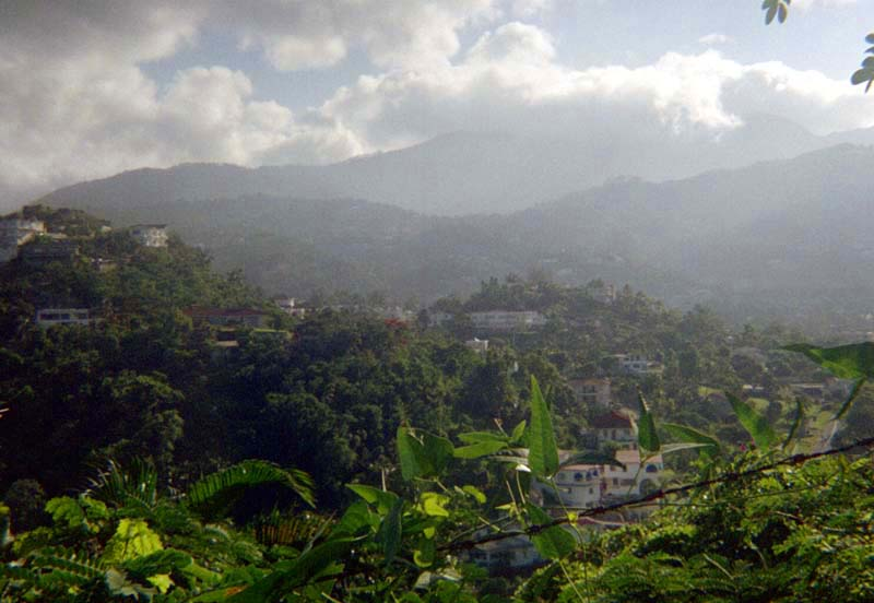 Blue Mountains just north of Kingston Jamaica